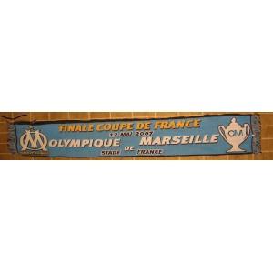 ECHARPE  OLYMPIQUE DE MARSEILLE - FINALE COUPE DE FRANCE 2007