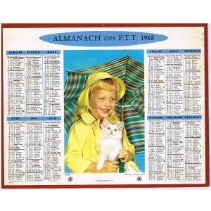 CALENDRIER ALMANACH DES PTT 1968 - ABRI
