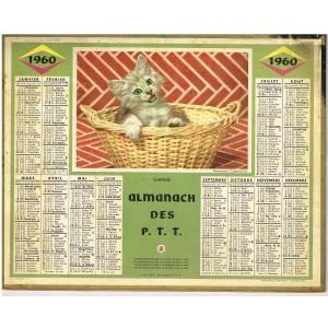 CALENDRIER ALMANACH DES PTT 1960 - SURPRISE