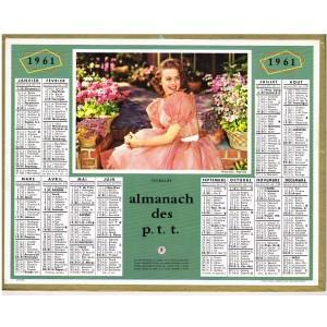CALENDRIER ALMANACH DES PTT 1961 - FLORALIES
