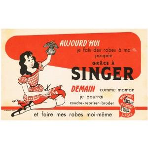 BUVARD SINGER - ROBES DE POUPEE