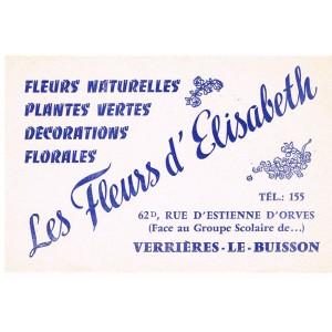 BUVARD REBUS LES FLEURS D'ELISABETH - VERRIERES-LE-BUISSON