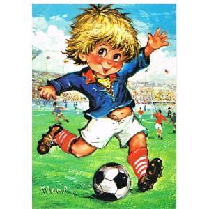 Carte Postale de MICHEL THOMAS, Série GAMINS - C/100-n° 40 FOOTBALLEURS