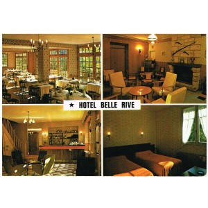 CP12 NAJAC - INTERIEUR DE L'HOTEL RESTAURANT BELLE RIVE