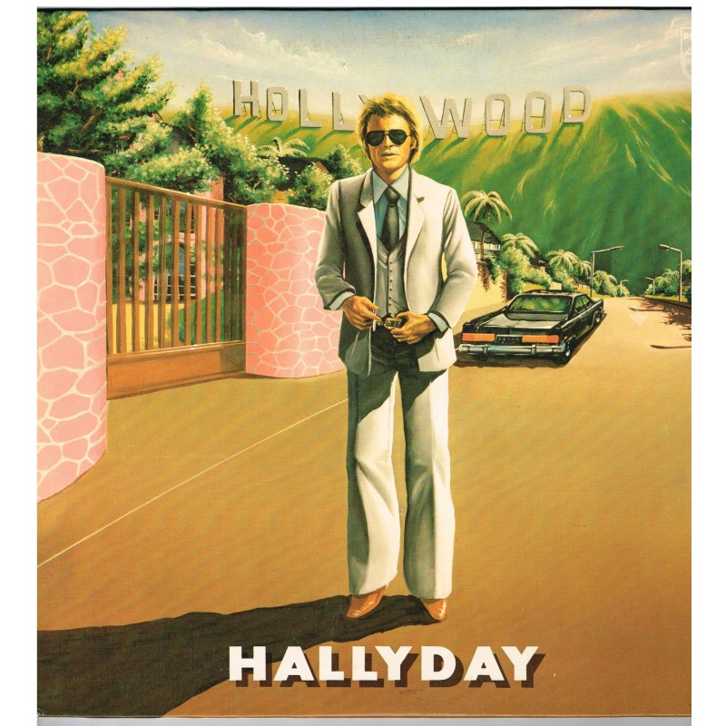 DISQUE 33 TOURS  - JOHNNY HALLYDAY - HOLLYWOOD