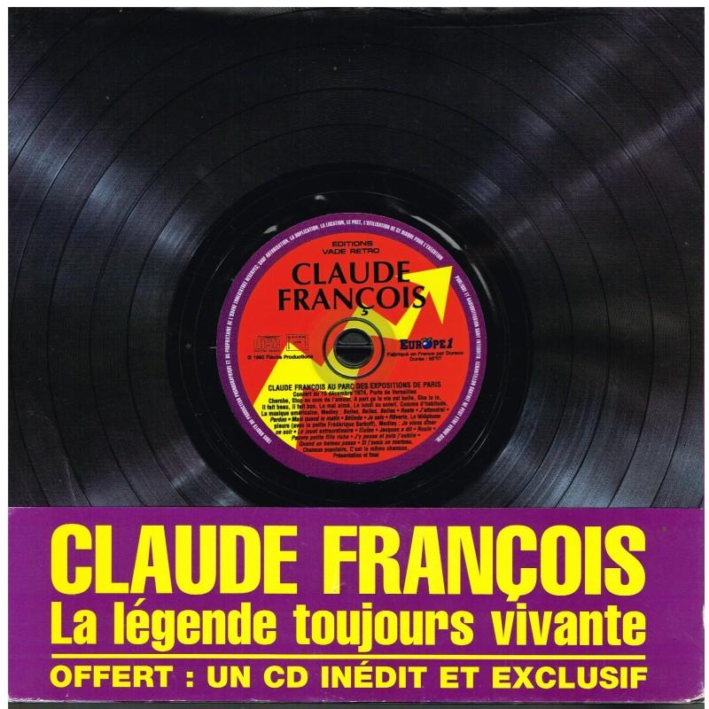 LIVRE CLAUDE FRANCOIS - LA LEGENDE TOUJOURS VIVANTE AVEC CD