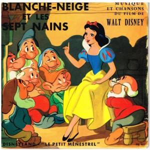 """DISQUE 45 TOURS 17 cm BIEM. - LES CHANSONS DE """"BLANCHE NEIGE"""" - WALT DISNEY"""