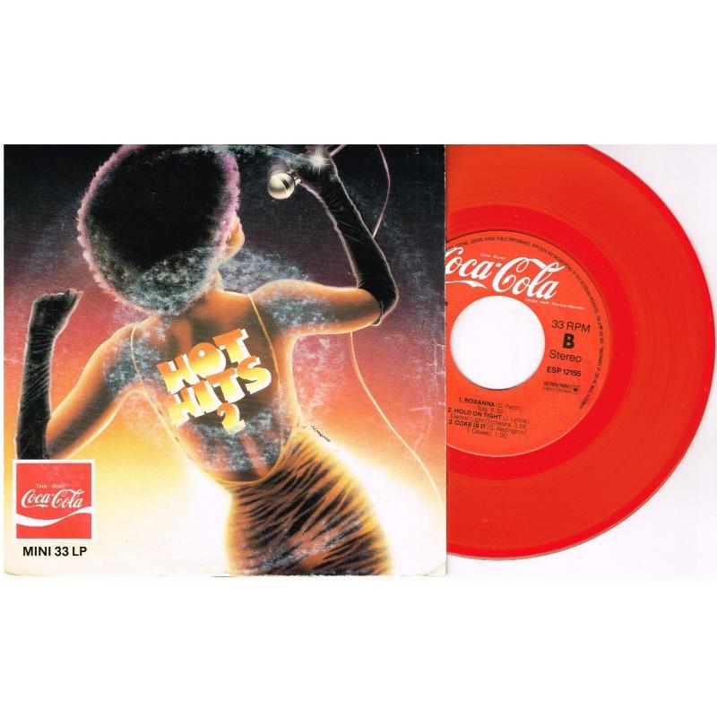 DISQUE MINI 33 TOURS LP ROUGE COCA COLA - HOT HITS 2