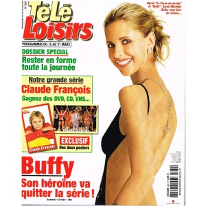 TELE LOISIRS  N° 889 CLAUDE FRANCOIS AVEC POSTER - 2003