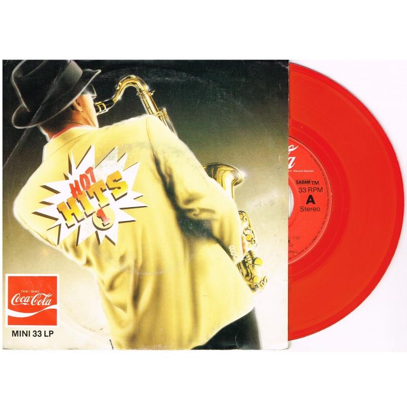 DISQUE MINI 33 TOURS LP ROUGE COCA COLA - HOT HITS 1