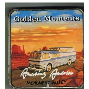 BOITE GOLDEN MOMENTS METAL - MONUMENT VALLEY