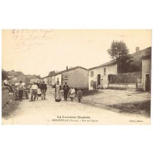 CP55 - HERMEVILLE - RUE DE L'EGLISE