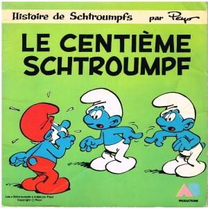 LIVRE-DISQUE 45 TOURS LE CENTIEME SCHTROUMPF