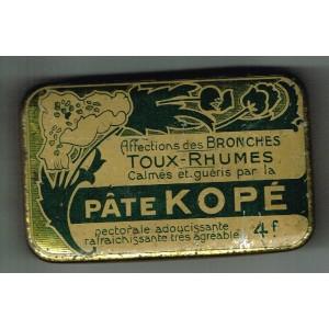 BOITE ANCIENNE EN METAL DE PATE KOPE