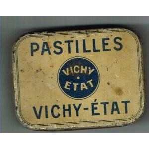 BOITE ANCIENNE METAL DE PASTILLES VICHY