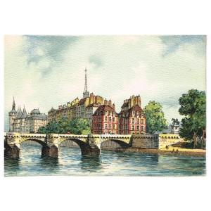 CARTE POSTALE PARIS - LE PONT NEUF - BARRE DAYEZ