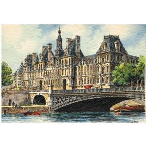 CARTE POSTALE PARIS - L'HOTEL DE VILLE - BARRE DAYEZ