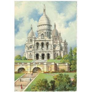CARTE POSTALE PARIS - LE SACRE-COEUR - BARRE DAYEZ