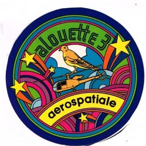 AUTOCOLLANT ALOUETTE 3 - AEROSPATIALE