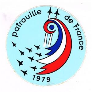 ADHESIF DE LA PATROUILLE DE FRANCE 1979