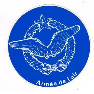 AUTOCOLLANT ARMEE DE L'AIR - COULEUR BLEUE