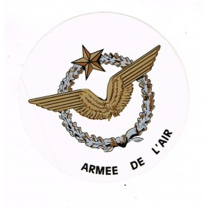 AUTOCOLLANT ARMEE DE L'AIR - COULEUR OR