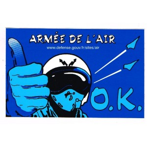 AUTOCOLLANT ARMEE DE L'AIR - OK
