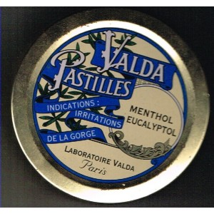 BOITE METAL PASTILLES VALDA - MENTHOL EUCALYPTOL
