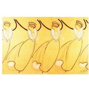 CARTE POSTALE LEO LELEE (1872-1947) LA FARANDOLE