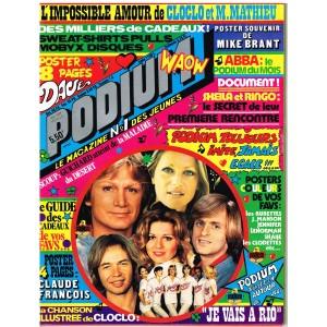 PODIUM N° 63 CLAUDE FRANCOIS - LES CLODETTES... 1977