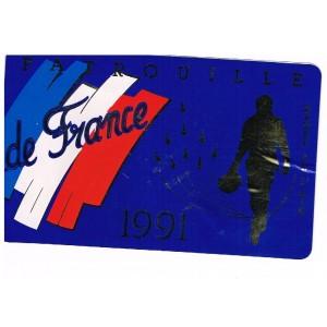 ADHESIF DE LA PATROUILLE DE FRANCE AVEC UN PILOTE - 1991