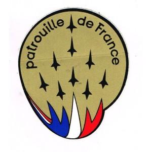 AUTOCOLLANT DE LA PATROUILLE DE FRANCE AVEC 9 AVIONS GRANDS MODELES STYLISES