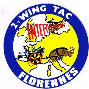 AUTOCOLLANT BASE AERIENNE JEAN OFFENBERG DE FLORENNES (Belgique)