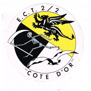 AUTOCOLLANT ARMEE DE L'AIR - ESCADRON D'ENTRAINEMENT - COTE D'OR