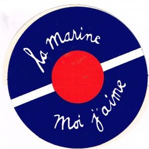 AUTOCOLLANT LA MARINE MOI J'AIME - BACHI