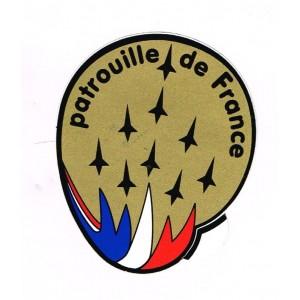 AUTOCOLLANT DE LA PATROUILLE DE FRANCE AVEC 9 AVIONS GRANDS MODELES STYLISES (N° 2)