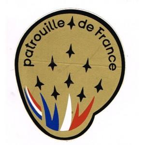 AUTOCOLLANT DE LA PATROUILLE DE FRANCE AVEC 8 AVIONS PETITS MODELES STYLISES (N° 3)