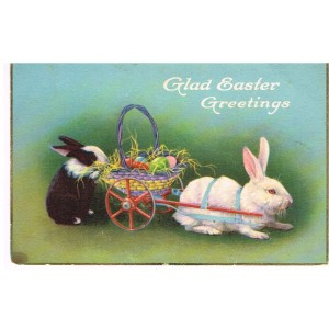 CARTE POSTALE JOYEUSES PAQUES ( GLAD EASTER GREETINGS)