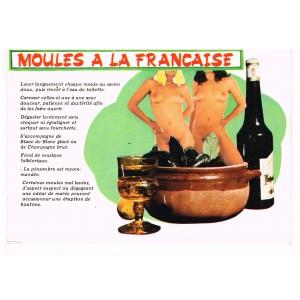 CARTE POSTALE HUMOUR SEXY MOULES A LA FRANCAISE