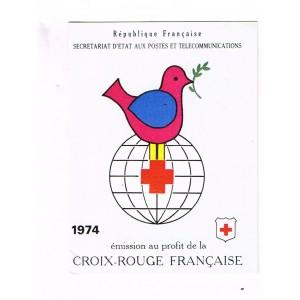 CARNET CROIX ROUGE 1974 NEUF