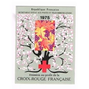 CARNET CROIX ROUGE 1975 NEUF