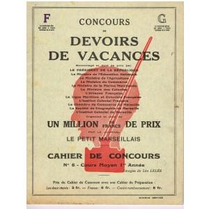CAHIER CONCOURS DE DEVOIRS DE VACANCES - CAHIER DE CONCOURS N° 6