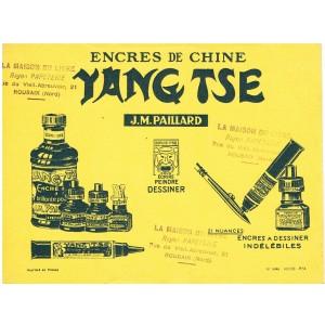 BUVARD ENCRES DE CHINE YANG TSE - J. M. PAILLARD