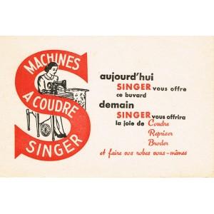 BUVARD  MACHINE A COUDRE SINGER