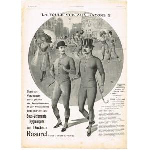 PUBLICITE ANCIENNE DE 1912 SOUS-VETEMENTS DU DOCTEUR RASUREL