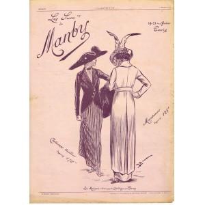 PUBLICITE ANCIENNE DE 1912 COSTUMES TAILLEUR - MANTEAUX MANBY PARIS ET VICHY