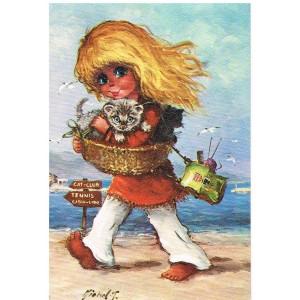 Carte Postale MICHEL THOMAS - SUR LA PLAGE