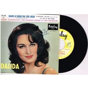 DISQUE 45 TOURS 17 cm EP - BIEM.   DALIDA - DANS LE BLEU DU CIEL