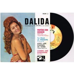 DISQUE 45 TOURS 17 cm EP - BIEM - DALIDA - PROTEGEZ-MOI SEIGNEUR