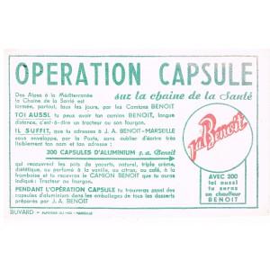 BUVARD OPERATION CAPSULE YAOURTS J. A. BENOIT